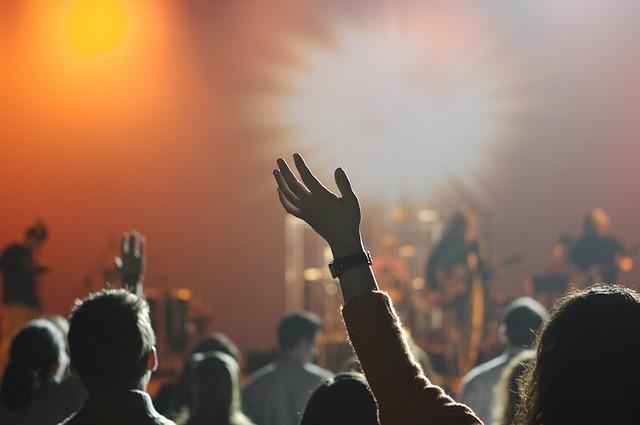 A crowd at a concert.
